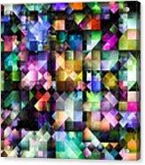 Colourful Fractal Jewels Acrylic Print