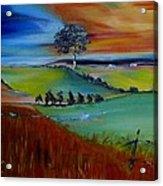 Colourful Landscape Acrylic Print
