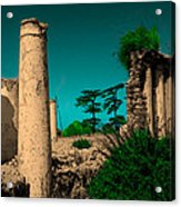 Colourful Ruins Acrylic Print