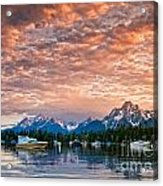 Colter Bay Sunset Acrylic Print