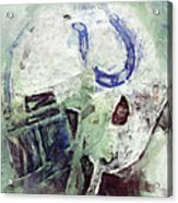 Colts Player Helmet Abstract Acrylic Print