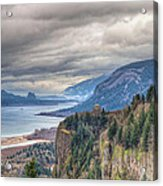 Columbia River Gorge Scenic View In Oregon Acrylic Print