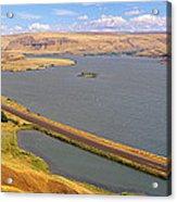 Columbia River In Oregon, Viewed Acrylic Print