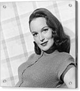 Columbia Starlet Dorothy Hart, Ca. 1947 Acrylic Print