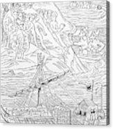 Columbus Arriving At Guanahani Acrylic Print