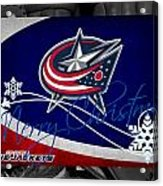 Columbus Blue Jackets Christmas Acrylic Print