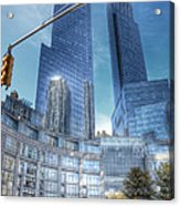 New York - Columbus Circle - Time Warner Center Acrylic Print