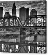 Columbus Ohio Downtown Bw Acrylic Print