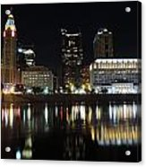 Columbus Skyline At Night Acrylic Print