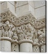 Column Relief Abbey Fontevraud  Acrylic Print