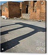Column Shadows Forum At Pompeii Italy Acrylic Print