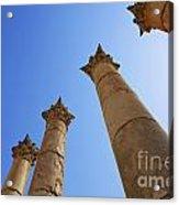 Columns At The Temple Of Artemis At Jerash Jordan Acrylic Print by Robert Preston