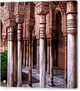 Columns Of The Court Of The Lions Acrylic Print