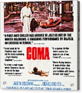 Coma, Left Genevieve Bujold On Poster Acrylic Print