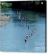 Combat Fishing Acrylic Print