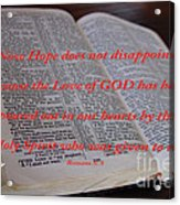 Come Holy Spirit Acrylic Print
