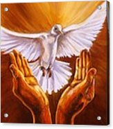 Come Holy Spirit Acrylic Print by Carole Powell
