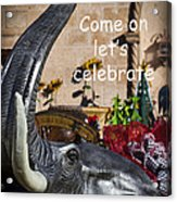 Come On Let's Celebrate Acrylic Print by Kathy Clark