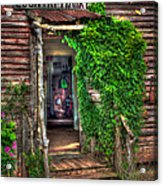 Sharecroppers Country Market Come Right In Acrylic Print by Reid Callaway
