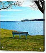 Come Sit Acrylic Print