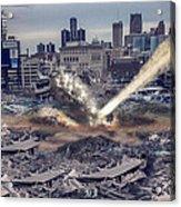 Comerica Park Asteroid Acrylic Print