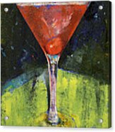 Comfortable Cherry Martini Acrylic Print