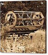 Comgine Wheel In Sepia Acrylic Print