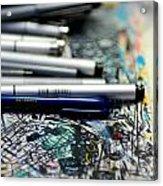Comic Book Artists Workspace Study 1 Acrylic Print