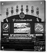 Comiskey Park U.s. Cellular Field Scoreboard In Chicago Acrylic Print