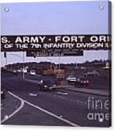 Fort Ord  Commander  Major General Marvin L. Covault  7th Infantry Division 1992 Acrylic Print