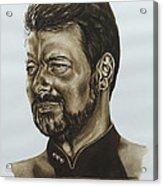 commander William Riker Star Trek TNG Acrylic Print