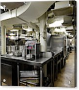 Commercial Kitchen Aboard Battleship Acrylic Print