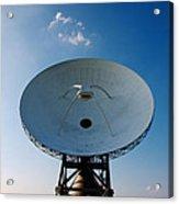 Communicating Via Satellite Dishes. Acrylic Print