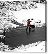 Companions Walking On Christmas Morning Acrylic Print