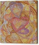 Compassion 7 Hearts Acrylic Print