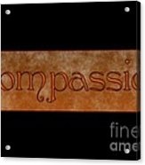 Compassion Acrylic Print by Peter R Nicholls
