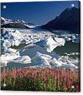 Composite View Of Colony Glacier W Acrylic Print