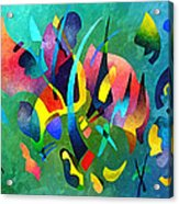 Composition In Blue And Green Acrylic Print