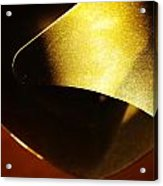 Composition In Gold Acrylic Print