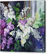Composition Of Lilac Acrylic Print