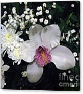 Composition With A Pink Orchid Acrylic Print