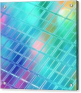 Computer Artwork Of A Semiconductor Wafer Acrylic Print