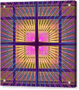 Computer Generated Fractal Squares Geometric Pattern Acrylic Print