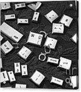 Computer Keys Acrylic Print