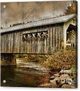 Comstock Bridge 2012 Acrylic Print by Deborah Benoit