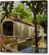Comstock Covered Bridge East Hamptom Connecticut Acrylic Print