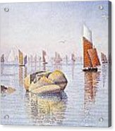 Concarneau   Quiet Morning Acrylic Print by Paul Signac