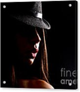Concealed Lips Acrylic Print