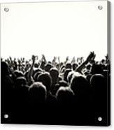 Concert Crowd Acrylic Print