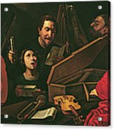 Concert With Musicians And Singers, C.1625 Oil On Canvas Acrylic Print